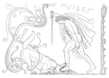 Norse mythology Vidar Fenrir