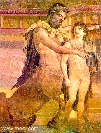 Chiron Kheiron and Akhilleus Archeology Naples Italy