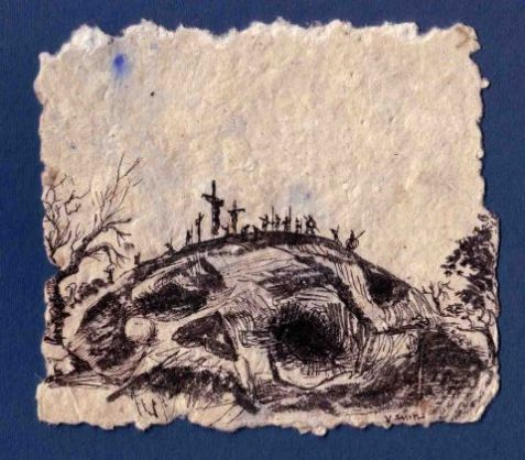 The place of the skull Golgotha by Verna Smith