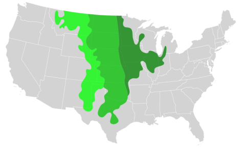 Age of America map Prairie States