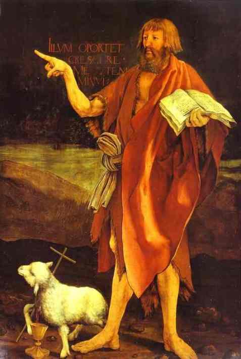 Age of America crucified on cross of time cross hairs cosmic lamb Grunewald Isenheim