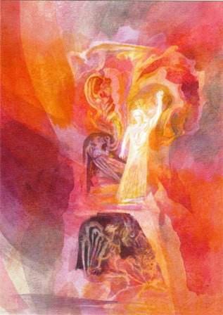 Risen Christ Statue of Representative of Humanity Goetheanum