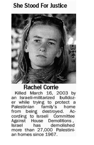 Age of America 3 Mars and Rachel Corrie